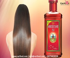 Massage with Navratna Hair Oil and relax