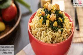 Creamy Spinach and Corn MAGGI Noodles Recipe