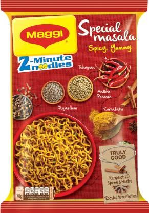 Maggi 2-Minute Special Masala Instant Noodles Vegetarian  (70 g)