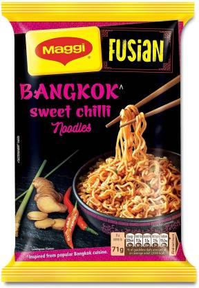 Maggi Fusian Bangkok Sweet Chilli Instant Noodles Vegetarian  (71 g)