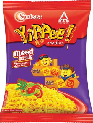 Yippee Mood Masala Instant Noodles Vegetarian  (70 g)